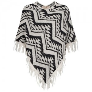Lofty_Manner_Valerie_Poncho_Zwart_Wit_front-500x500